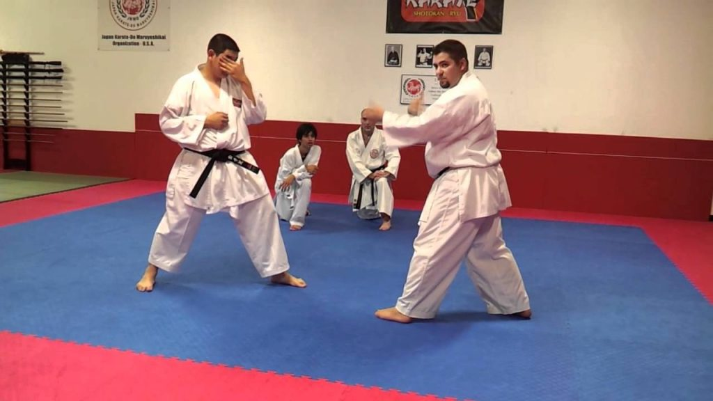 Karate Kumite - Using Multiple Techniques to Counter Attack